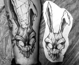 black, black and white, and donnie darko image