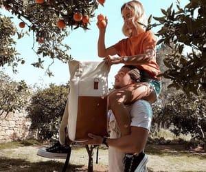 couple, orange, and Relationship image