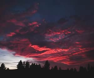 photography, red, and sky image