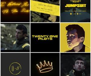yellow, josh dun, and twenty one pilots image