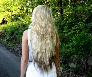 blond, dip dye, and hair image
