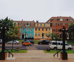 colourful, street, and town image