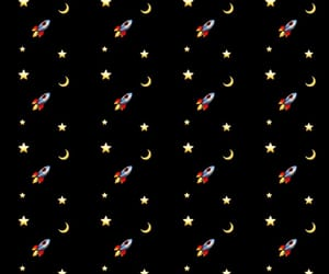 luna, space, and stars image