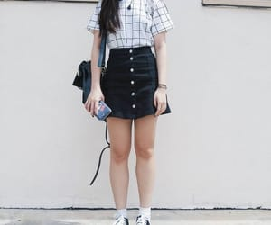 aesthetic, black and white, and fashion image
