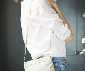 sustainable fashion, etsy, and leather shoulder bag image