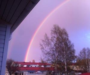 rainbow, sky, and purple image