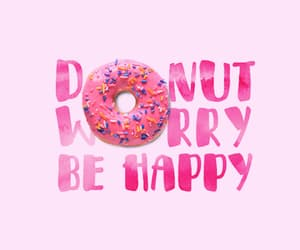 donut, happy, and pink image