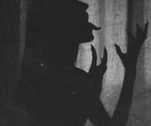 demon, black and white, and dark image