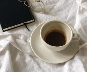 coffee, book, and warm image