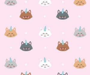 cat, pink, and unicorn image