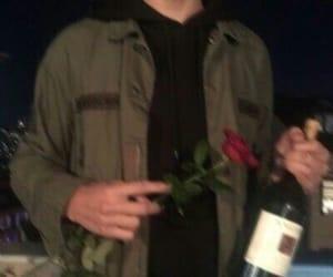 boy, grunge, and rose image