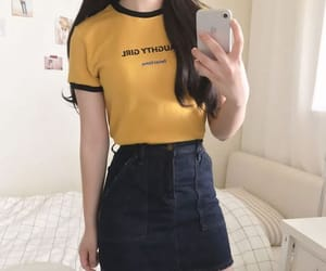 outfit, kfashion, and yellow image