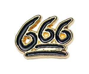 666, aesthetics, and pin image