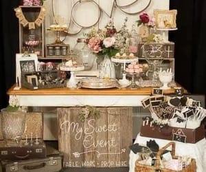 amor, decoracion, and mesa image