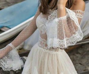 fashion, dress, and wedding dress image