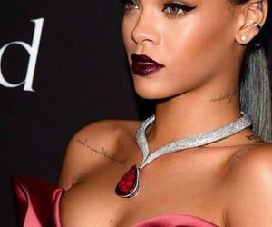 beauty, dark red, and diamond image
