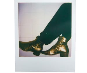 boots, golden, and guitarist image