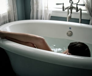 girl, bath, and legs image