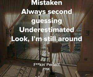 Lyrics, pink, and perfect image