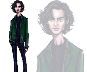 fashion illustration, hayden williams, and timothee chalamet image
