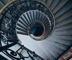 blue, staircase, and stairs image