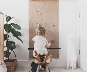 child, drawing, and wall image