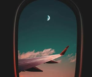 moon, sky, and travel image
