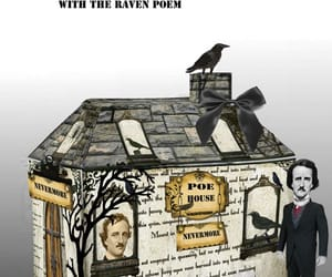 Edgar Allen Poe, table decor, and etsy image