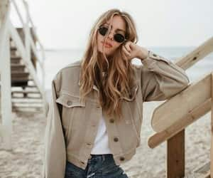 fashion, girl, and beach image