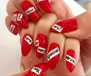 red, colors, and nails image
