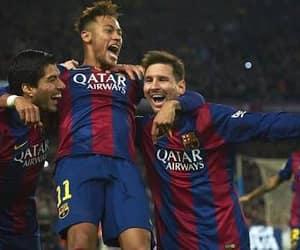 Barcelona, neymar, and messi image
