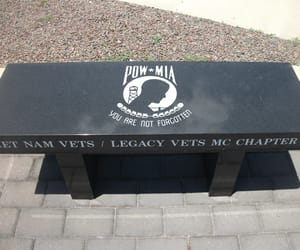 bench, memorial, and mia image