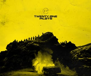 jumpsuit, yellow, and twenty one pilots image