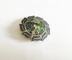 etsy, sterling silver, and abalone image