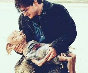 harry potter, dobby, and harry image