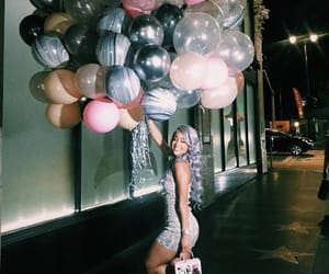 balloons, birthday, and wishes image