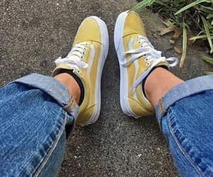 vans, yellow, and tumblr image