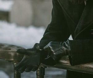 black, aesthetic, and gloves image