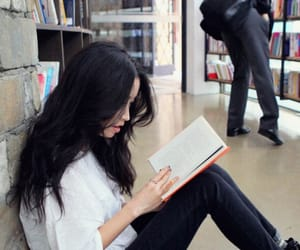 asian girl, black hair, and girl image