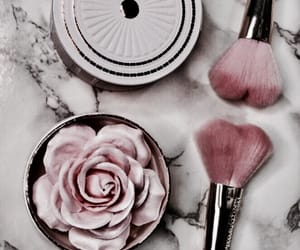 Brushes, makeup, and pink image