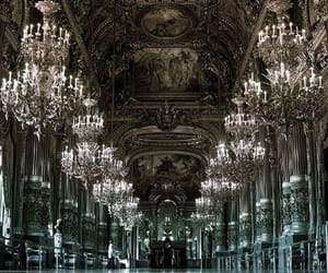 paris, architecture, and chandelier image