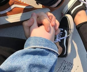 couple, fashion, and vans image
