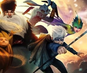 easter bunny, rise of guardians, and jack frost image