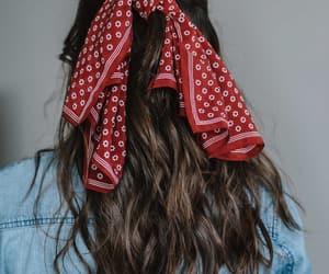 bandanas, brown hair, and hair image