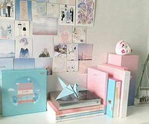aesthetic, pastel, and desk image