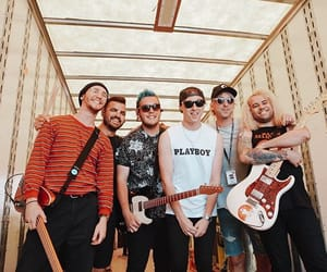 alex gaskarth, state champs, and all time low image