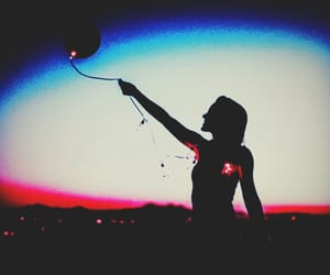 free, letting go, and lights image