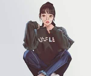 art girl, girl, and girly image