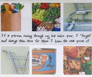 food, postsecret, and postcard image