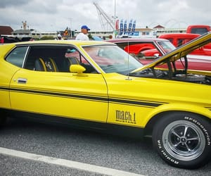 ford, muscle cars, and yellow image